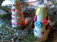 Foam Christmas Trees serve as adorable kids' Christmas decorations. cute Christmas crafts for kids fit anywhere in the house! Christmas Decorations For Kids, Christmas Activities For Kids, Winter Crafts For Kids, Winter Kids, Kid Crafts, Kindergarten Christmas Crafts, Holiday Crafts, Holiday Ideas, Christmas Angels