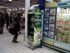 Freshboard Traditional with special tetra top for Danone Activia in French Carrefour