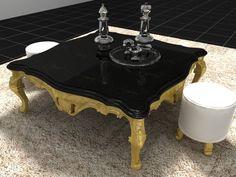 3D Model Boloni Tea table c4d, obj, 3ds, fbx