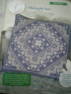 MIDNIGHT SUN HARDANGER DESIGN BY MARY HICKMOTT EMBROIDERY CHART ONLY