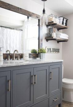 Adorable 75 Rustic Farmhouse Bathroom Makeover Ideas https://roomodeling.com/75-rustic-farmhouse-bathroom-makeover-ideas