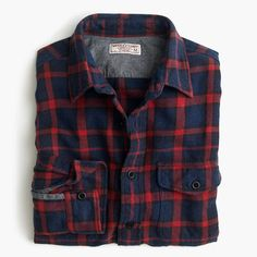 Inspired by vintage outdoor flannels, this shirt has a rugged look balanced by a supersoft feel. Made in a premium brushed midweight cotton with a timeless plaid pattern, it's the perfect layer for fall—and beyond. <ul><li>Classic fit.</li><li>Cotton.</li><li>Point collar.</li><li>Machine wash.</li><li>Import.</li></ul>