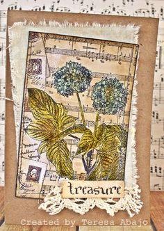 Darkroom Door 'Star Flowers' Photo Stamp DDPS011. Card created by Teresa Abajo. http://www.darkroomdoor.com/photo-stamps/photo-stamp-star-flowers