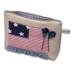 Kosmetiktäschchen+USA+Flag+100825+von+KabiKaba+auf+DaWanda.com