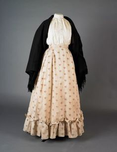 Mothers- add apron Costume 1890 - 1899 Silk