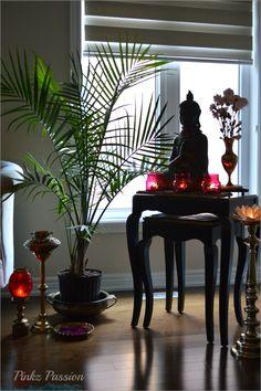 indian home decor Buddha, peaceful corn - Zen Home Decor, Indian Home Decor, Home Decor Signs, Fall Home Decor, Zen Living Rooms, Living Room Decor, Meditation Corner, Buddha Garden, Buddha Decor