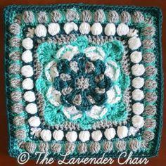 Azalea Mandala Square Crochet Pattern Crochet Squares Afghan, Crochet Blocks, Granny Square Crochet Pattern, Granny Squares, Crochet Granny, Crochet Blankets, Crochet Mandela, The Lavender Chair, Mandala Blanket