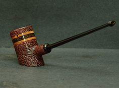 ESTILO DON DUNHILL con incrustaciones de madera exótica - fumando pipa por Anan Pillia