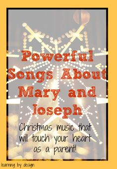 Touching songs telling the Christmas story from the perspective of Mary and Joseph you'll want to hear!