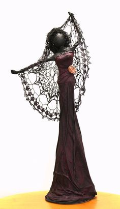 Biatta....Fashionable dramatic female sculpture with attitude -    Her name is Biatta - great gift for the Diva in your life.
