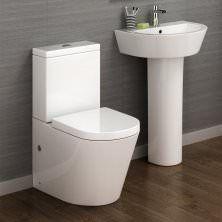 Lyon II Close Coupled Toilet & Pedestal Basin Set