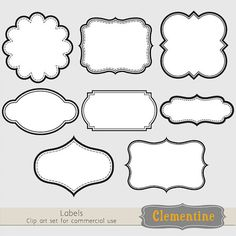 Printable labels clip art images, scrapbook clip art, royalty-free, layered in… Printable Frames, Printable Labels, Printables, Labels Free, Diy And Crafts, Paper Crafts, Label Templates, Royal Icing Templates, Clipart
