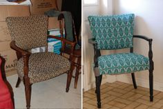 wood chair makeover