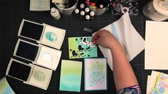 Trick box - Techniques about Stampin - Watercolour backgrounds
