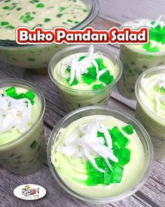Buko Pandan Salad Recipe originates from Bohol Province, it is a favorite Filipino salad served in almost every special occasions in the Philippines. Beef With Broccoli Recipe, Broccoli Recipes, Salad Recipes, Filipino Desserts, Filipino Recipes, Filipino Food, Cooking Tips, Cooking Recipes, Healthy Recipes