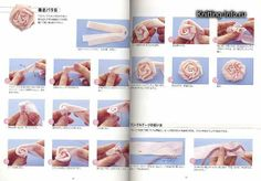 مراحل خياطة الورد بالشرائط,خيطي وردة بشكل جديد وجميل,لمحبات ورود الساتان
