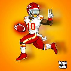 Kansas City Chiefs Football, Giants Football, Football Art, Funny Football, Fastest Football Player, Nfl Football Players, Football Outfits, Football Uniforms, Football Wallpaper
