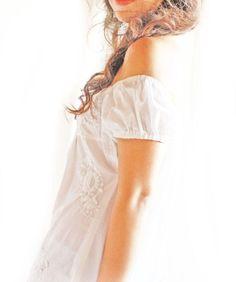 5e58e458b0938 Peace lover white off shoulder Mexican dress. Aida Coronado