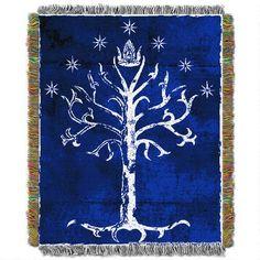 LOTR Tree of Gondor Woven Tapestry Throw Blanket