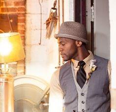musician chic in grey sophisticated wedding decor #wedding #gray #grey #grooms
