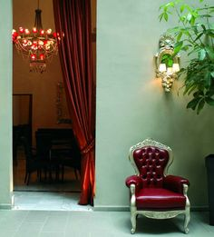 Breakfast room entrance at Borghese Palace Art Hotel in Florence - Cool!
