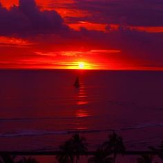red and purple sunset