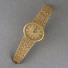 Circa 1970's Rolex 14K yellow gold wristwatch