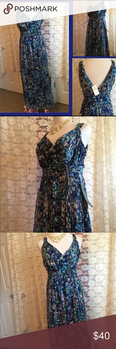 Coldwater Creek Elegant Dress NWT This is a gorgeous dress. It flows and accentuates your body. Very elegant 👠👓👗👜 Coldwater Creek Dresses Maxi