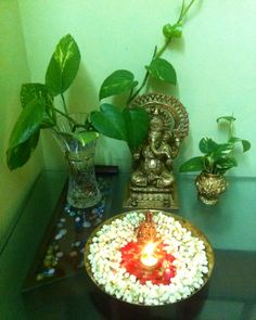 Ganesh and jasmines