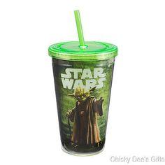 Vandor Star Wars Yoda 18 oz. Acrylic Travel Cup NEW