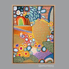 Colorful Artwork, Colorful Paintings, Art Painting Supplies, Diy Canvas Art, Aboriginal Art, Abstract Wall Art, Painting Inspiration, Painting & Drawing, Art Projects