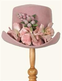 LOUISE GREEN VINTAGE ROSE RIDER HAT