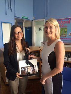 Rebecca Salkeld from our Newcastle office presents Gillian Pigott with her Hotel Chocolat hamper for being our final winner of our prize draw. Congratulations Gillian!!