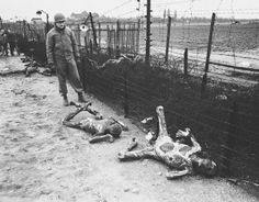 In April 1945, shortly before US troops entered Leipzig, about 100 inmates of the Thekla-I slave labour camp who worked at the nearby Erla aircraft factory were locked in a camp hut by the Germans and burned alive by incendiary bombs, which were thrown into the building. Very few escaped, but most of those who forced their way out were machine-gunned on the barbed wire by waiting soldiers.