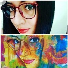 Obra pintada por nuestro artista Serafín Cortés. Glasses, Modern Paintings, Artworks, Artists, Eyewear, Eyeglasses, Eye Glasses