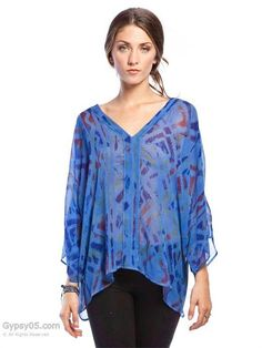 Gypsy05 silk top $168  email us at Chaboutique@gmail.com or call us 314-993-8080