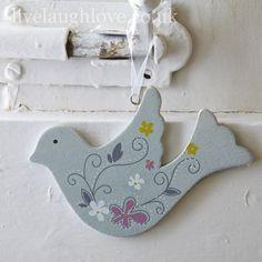Hippy Chic Hanging Wooden Bird