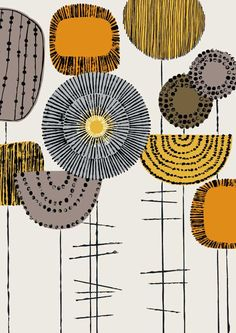 Shape Study Flowers Harvest, limited edition giclee print. $25.00, via Etsy.