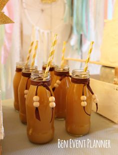 Drinks at a boho tribal birthday party! See more party planning ideas at CatchMyParty.com!