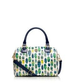 Robinson Middy Satchel | ToryBurch.com Love the beetle print, really want this bag!