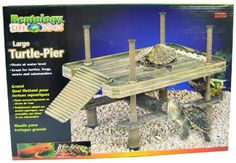 $24.95-$29.99 Reptology® Large Turtle Pier provides your pet with a healthier, more natural environment while giving you a new way to interact with your aquatic pet. Sculpted in a traditional pier design, the Turtle Pier is great for turtles, frogs, newts & salamanders and is designed to give your pet a more natural aquatic environment while allowing you to use your entire tank for water. The dee ...