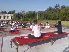 camp with blessings of yoga guru baba Ramdev World Yoga Day, Baba Ramdev, International Yoga Day, Outdoor Furniture, Outdoor Decor, Sun Lounger, Blessings, Camping, Campsite