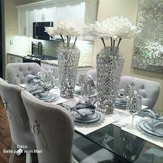 Dinning Room Tables, Dining Rooms, Room Kitchen, Kitchen Ideas, Big Move,  Luxury Living, Table Settings, Fine Dining, Dinner Parties