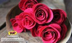 Flor de papel: Como fazer flores de papel :http://topartesanato.com/como-fazer-flores-de-papel/