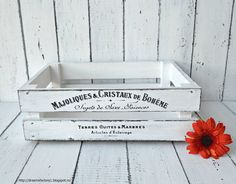 Dreams Factory: Handmade crate with French Typography from The Graphics Fairy