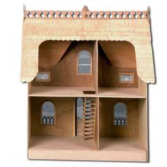 The Arthur Dollhouse: Unpainted Back View