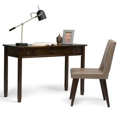 Simpli Home Warm Shaker Writing Desk U0026 Reviews | Wayfair