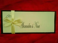 Despre invitatii si altele: Invitatie nunta handmade