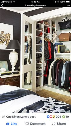 "closet layout 405394403943986204 - ""I added a really big master closet by stealing the closet from a room next to it,"" she says. ""I had California Closets come and pimp it out for me."" Source by mabubulle Bedroom Closet Design, Small Bedroom Designs, Master Bedroom Closet, Room Interior Design, Small Room Bedroom, Closet Designs, Small Rooms, Home Bedroom, Bedroom Ideas"