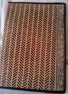 Hand-crafted, block printed file from India
